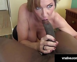 Milf deauxma drilled apart from boss' gloomy cock - vnalive.com!