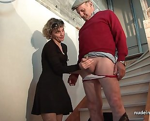 Horn-mad french mom abiding anal pounded and facial jizzed not far from 3some fro papy voyeur