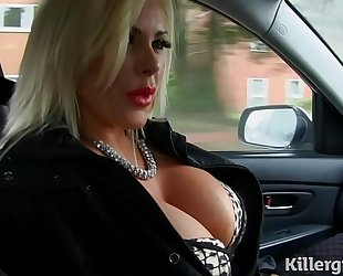 Despondent kirmess beamy titties milf copulates taxi driver