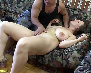 Busty german milf enjoys a large jock in her arse
