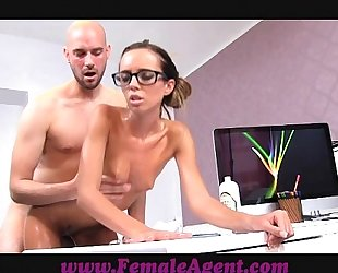 Femaleagent milf receives all oiled by massuse fellow