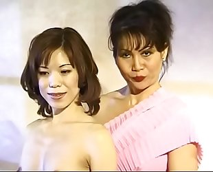 Licentious Asian mature lady Cumisha Amado organaized saturnalia for her female neighbours