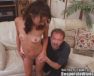 Skinny BBC slut screwed and filled with knob!