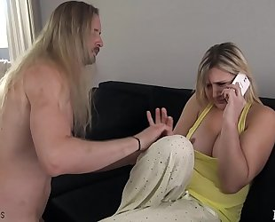 Mom acquires drilled by sleepwalking son - fifi foxx & knob ninja