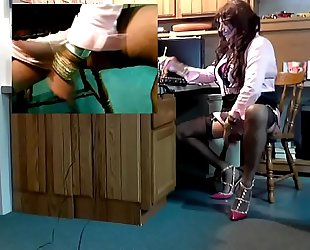 Two Black Dildos Over 30 Inches of Pleasure For Kim Dazy