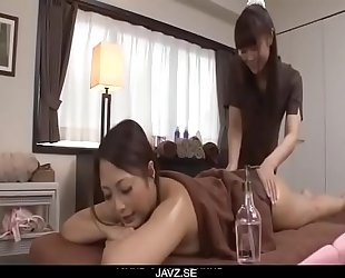 Superb massage session with a lesbian babe for Maika - From JAVz.se