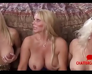 Three Mture MILFs Get Fucked Convulsion Swallow Sperm