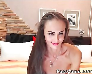 Sexy skinny milf long hair and curvy ass