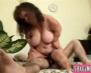 Big Titted Fatty Has Cunt Sucked