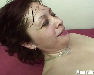 Stepson Having An Stake With His Redhead Stepmom