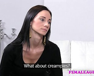 Femaleagent 1st time with a woman for shy carnal beauty