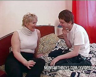 Bbw older mommy seduces sons ally