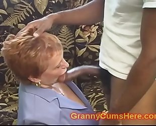 School teacher granny gets drilled