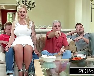 Curvy stepmom ryan conner takes her stepson's youthful penis