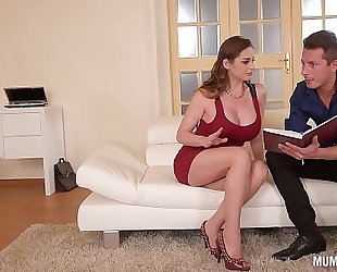 Mom next door cathy heaven goes wild in dp trio