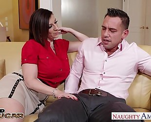 Busty cougar sara jay taking a big prick