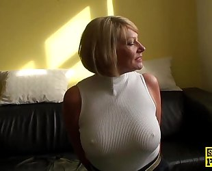 Mature s&m brit paddled and screwed