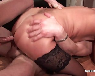 Amateur casting aged hard dp fisted and facialized in threeway