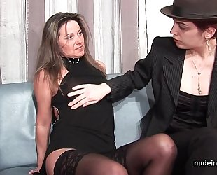 Ffm french older arse drilled for her dilettante casting bed with a redhead wench