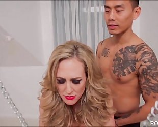 Chained up brandi love is the fuck serf to a youthful ramrod