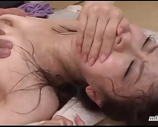 Milf getting her hirsute love tunnel screwed hard cum to throat during the time that her son sleeping nex