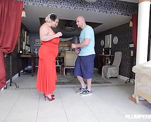 Mature bbw wench samantha 38g gives fucking lessons to guy
