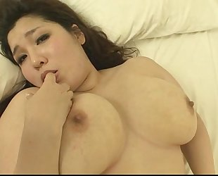 Plump and breasty chick yume sazanami finger screwed and twat pounded