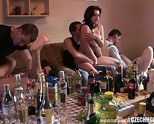 Czech non-professional secret groupsex party