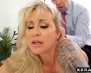 Milf boss craves large penis employee to fuck her backdoor