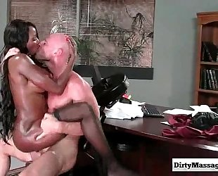 Oily office with diamond jackson from obscene masseur-part04