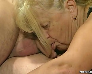 Two granny acquire screwed in foursome act