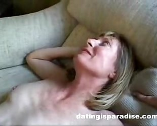 Blonde milf opens a-hole for spouse