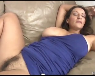 Busty milf cook jerking and vagina rubbing