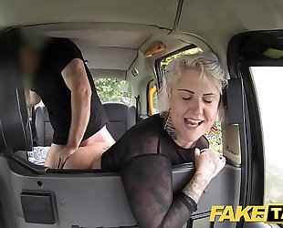 Fake taxi blond milf acquires surprise anal sex and rims the driver