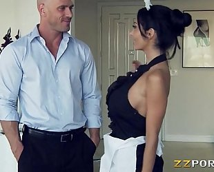 Huge hooters maid ava addams pounded with a giant shlong