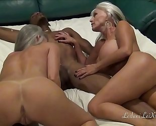 Cam show enjoyment with 2 milfs and a bbc