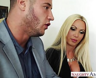 Busty blond nikki benz take weenie
